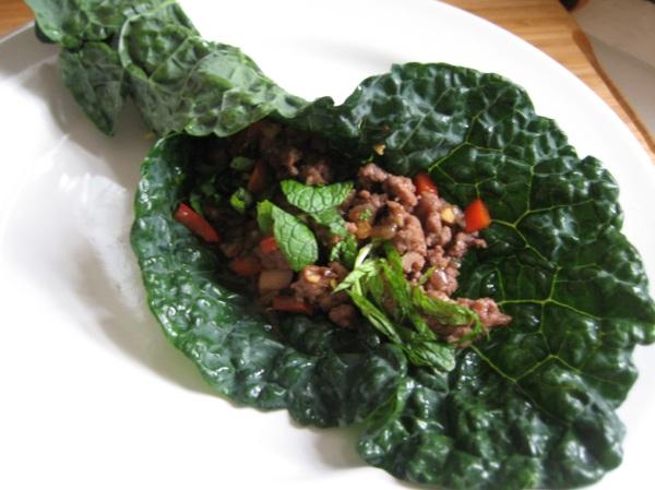 thai lamb green wrap