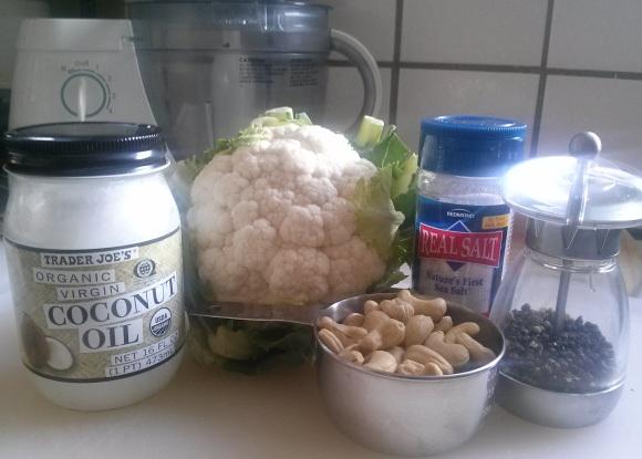 cashew cauliflower rice-ingredients
